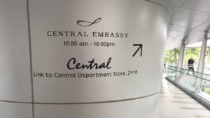 Central Embassy Shopping Mall in Bangkok