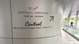 Central Embassy Shopping Mall in Bangkok